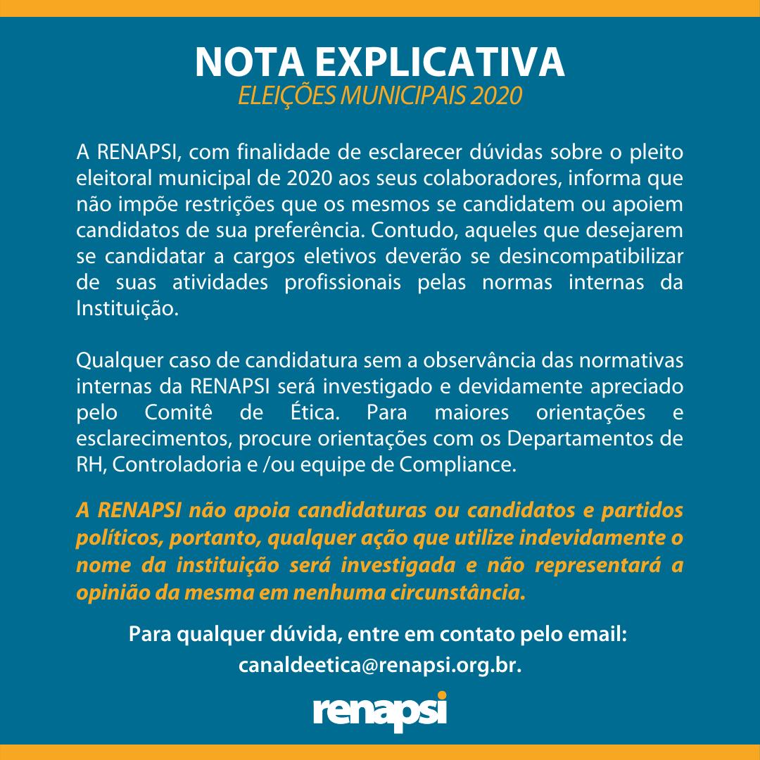 NOTA EXPLICATIVA - ELEIÇÕES MUNICIPAIS 2020 (2)